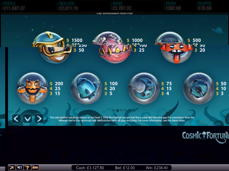 cosmic fortune slot