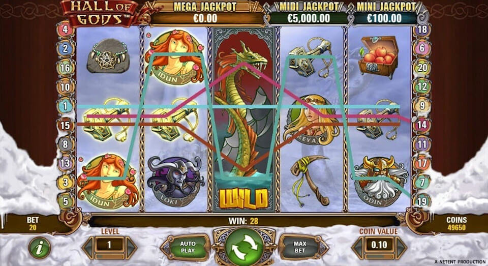 Hall of Gods review slot machine