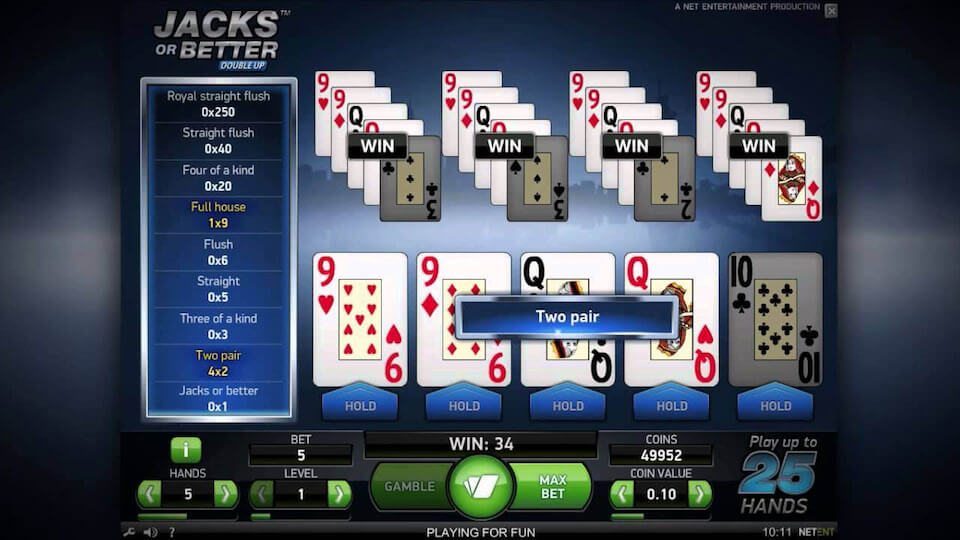 Video Slots Jacks Or Better