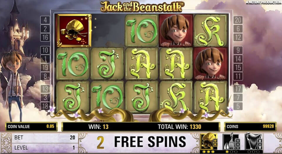 Jack and the Beanstalk game netent pla free