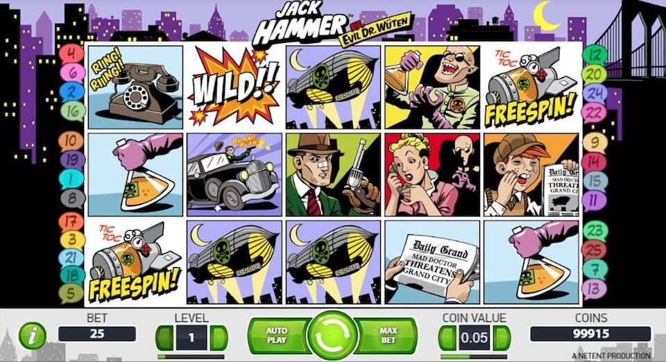 Jack hammer slot game