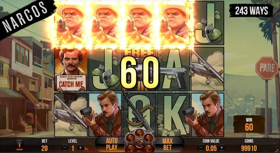 Narcos slot review netent