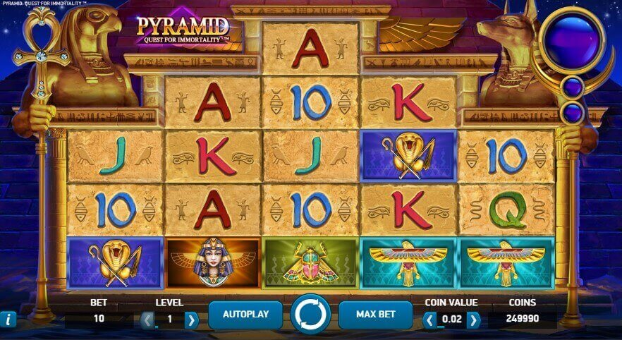 Pyramid: Quest for Immortality pokie review