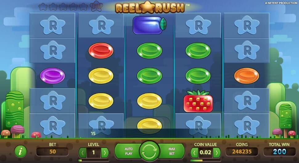 Reel Rush pokie netent - play demo