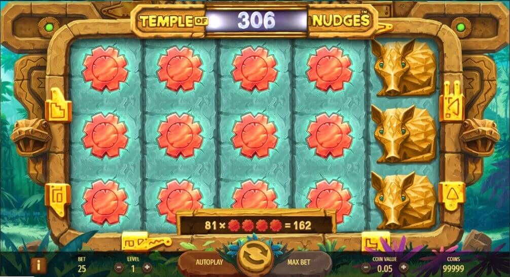 Temple of nudges pokie netent