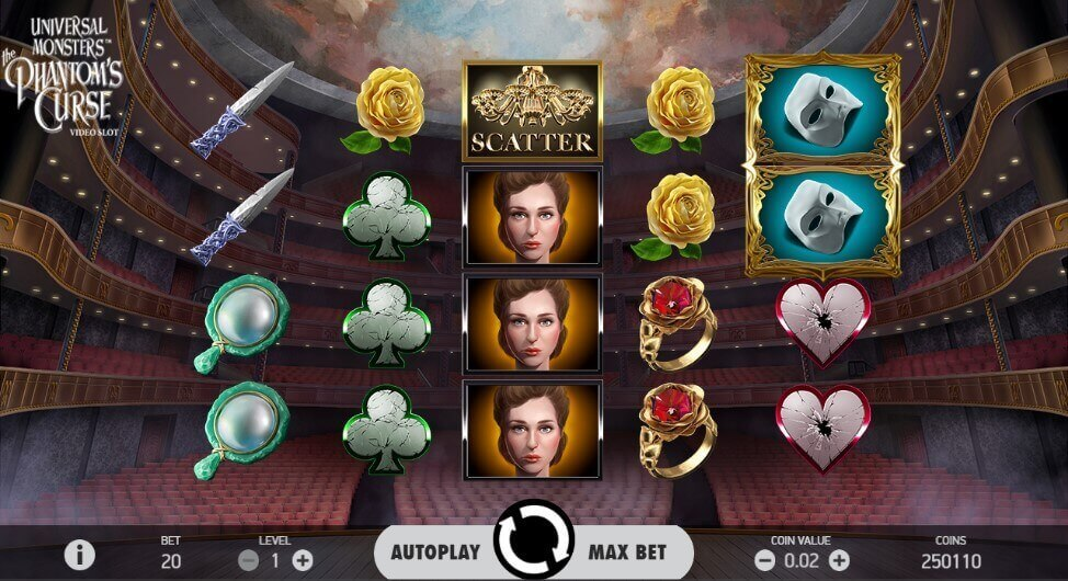 The Phantom's Curse play online slot