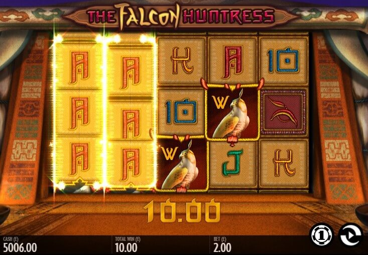 The Falcon Huntress - slot thunderkick