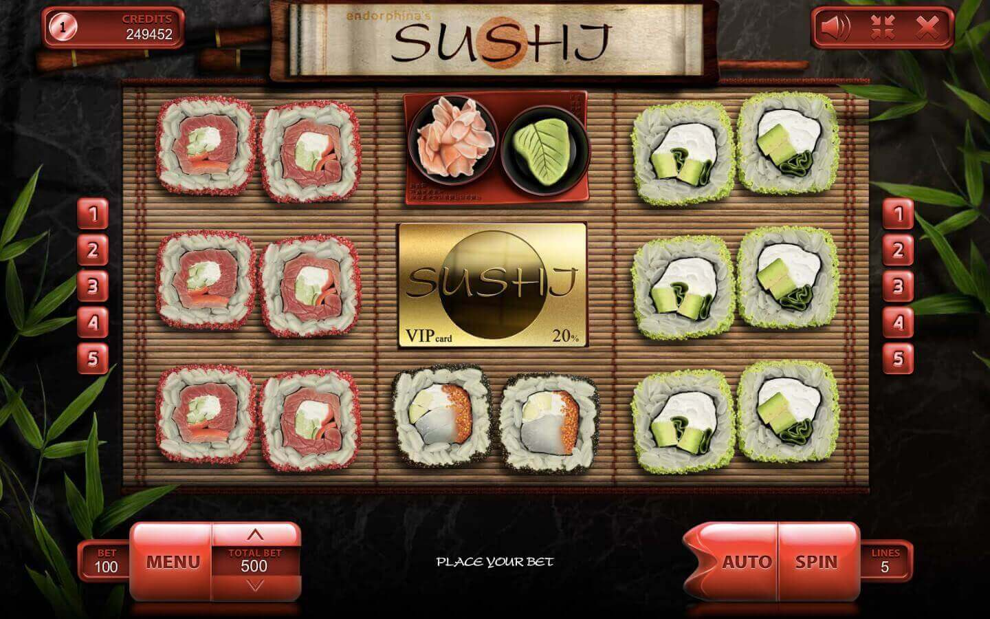 Sushi Endorphina play demo