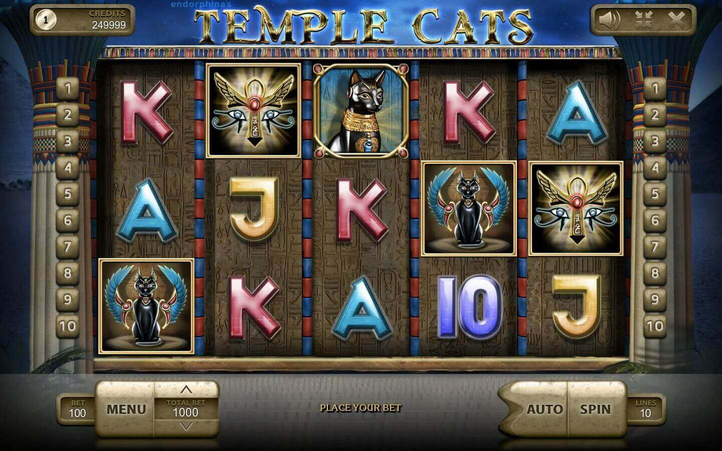 Temple Cats play demo slot