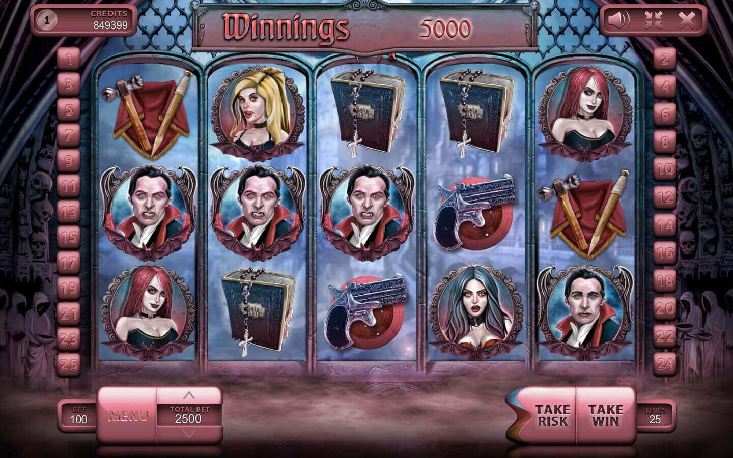 The Vampires slot machine free