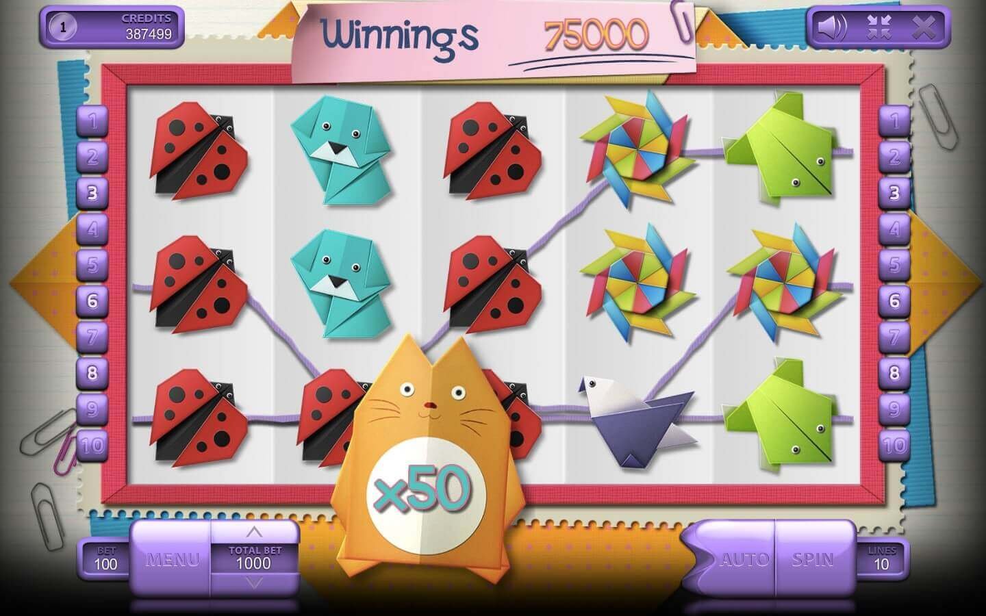 Origami slot review