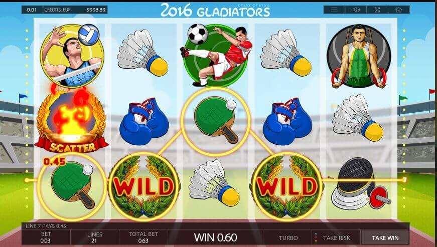 2016 Gladiators slot review
