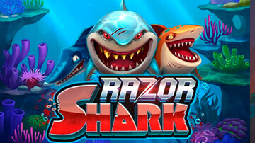 razor shark pokie logo