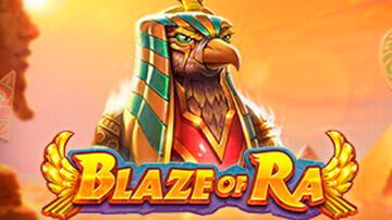 Blaze of ra pokie logo