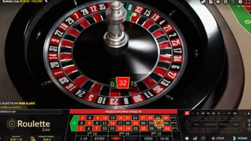 the probability of a roulette number