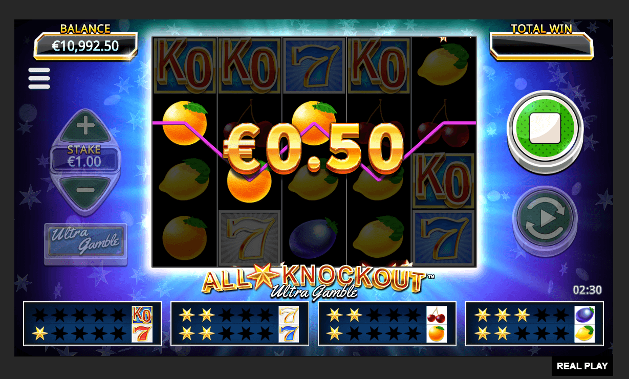 all stars Knockout Ultra Gamble play demo