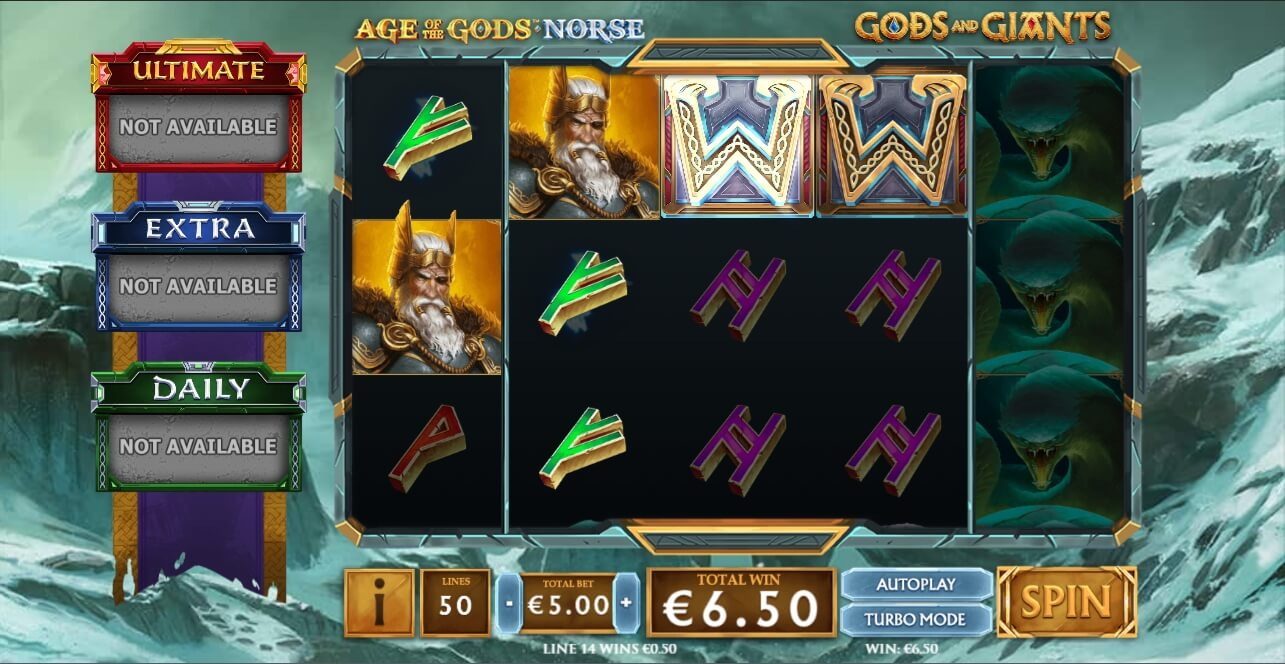 Age of the Gods Norse Gods and Giants выигрыш