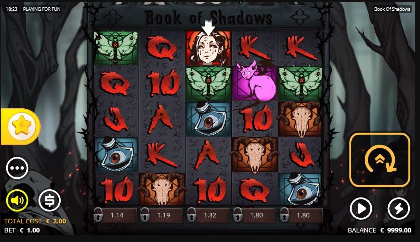 Book of Shadows interface