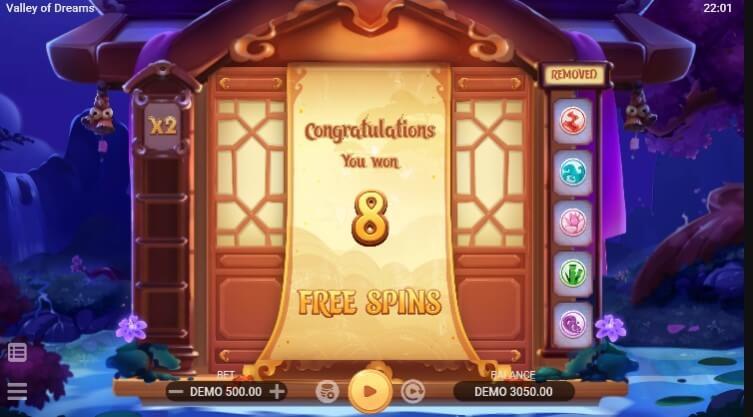Valley of Dreams free spins