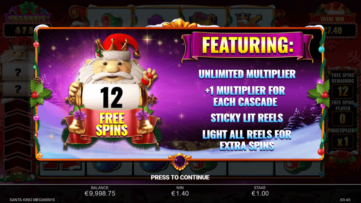 Santa King Megaways Bonus