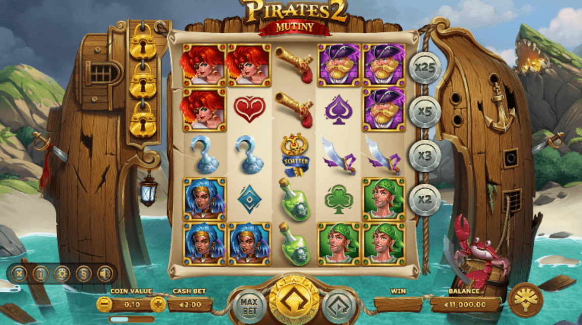 Pirates 2 Mutiny interface