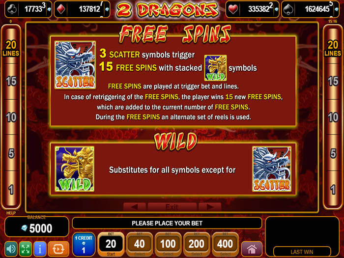 2 Dragons special characters