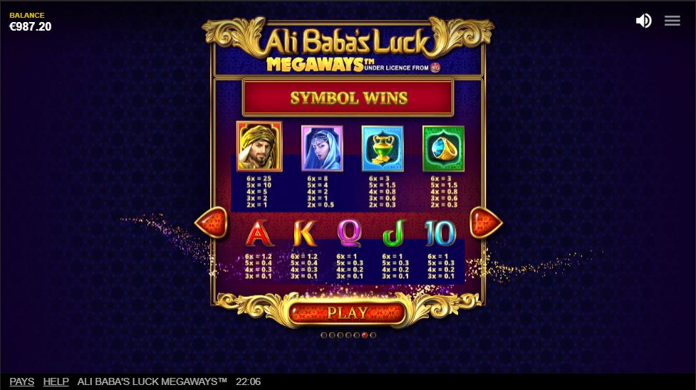 Ali Babas Luck Megaways_paytable