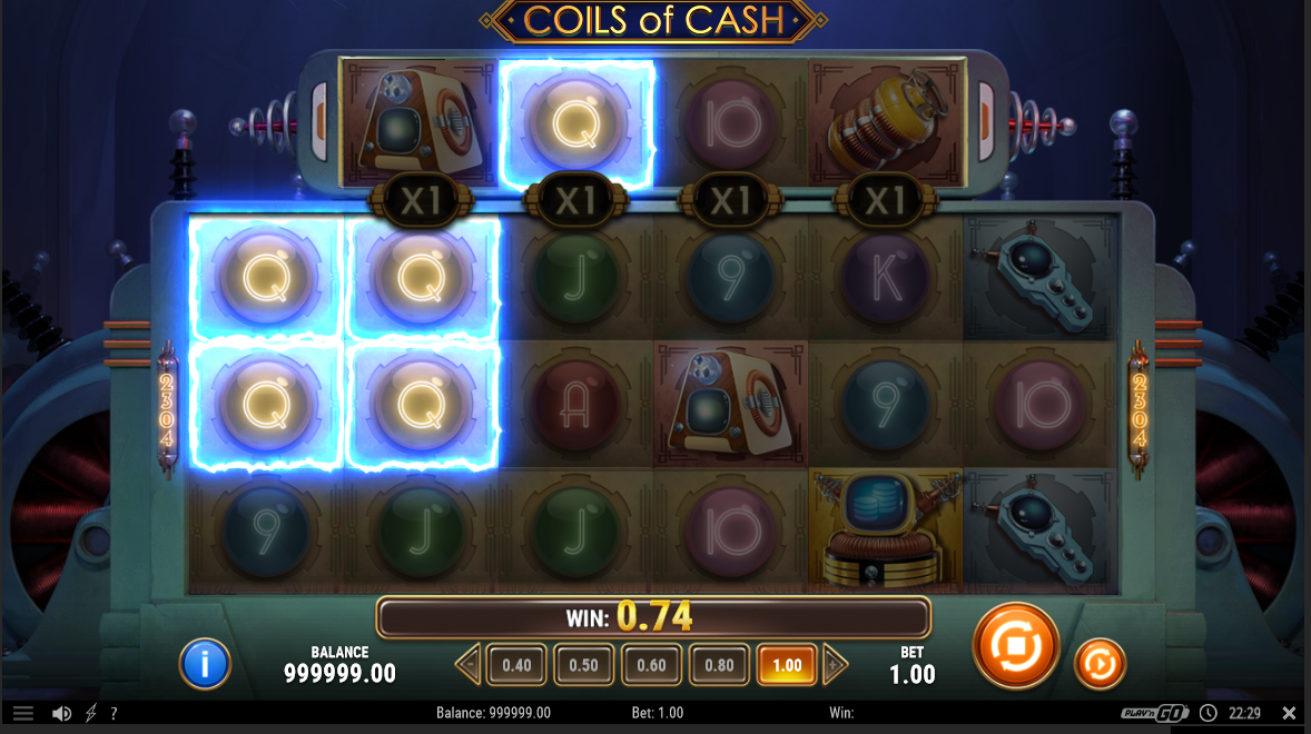 Coils of Cash winnings