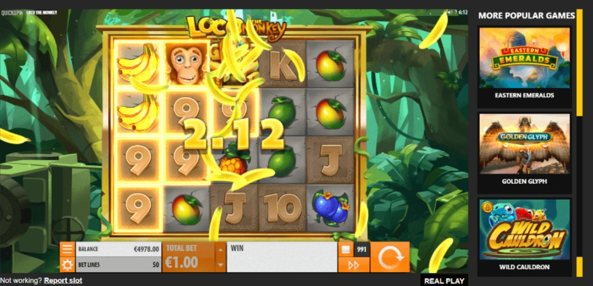 Loco the Monkey выигрыш