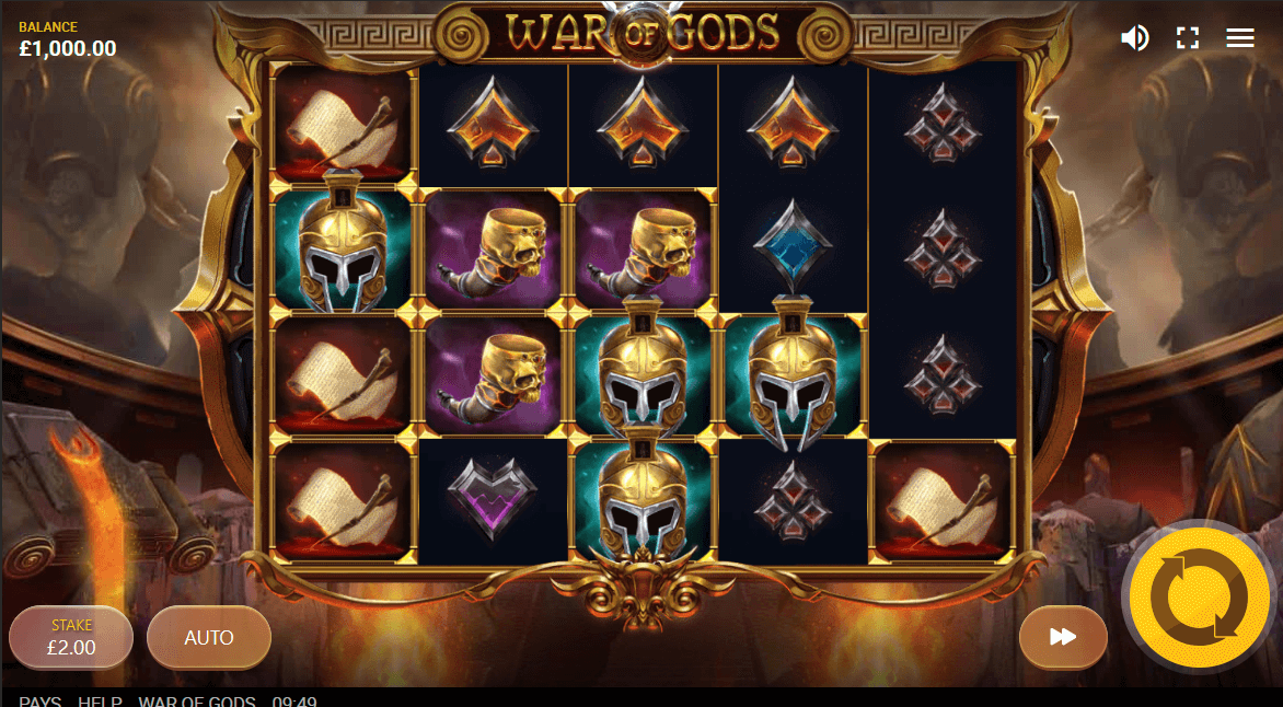 War of Gods interface